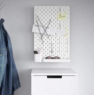 SKÅDIS Panneau perforé - Blanc - 36 x 56cm - IKEA