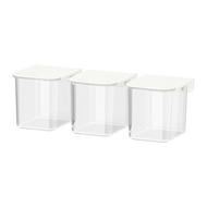 SKÅDIS Récipient avec couvercle pour panneau perforé, blanc - 3 pièces - IKEA