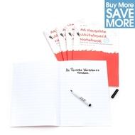 Class pack - 30 Notebook lignes at marges réutilisable format A4