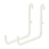 SKÅDIS Crochet pour panneau perforé, blanc - 2 pièces - IKEA