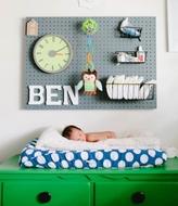 Panneau perforé de Chambres de bébé - Blanc - Grand - 80 x 60cm