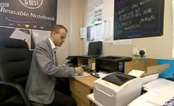 Magic Notebook crowdfunding on BBC News