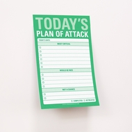 Knock Knock Today's Plan of Attack - Grandes notes collantes - Great Big Sticky (Anglais)