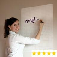 Tableau blanc magique quadrillé - rouleau de 25 feuilles