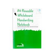 A4 réutilisable Tableau blanc écriture Notebook 8 pages