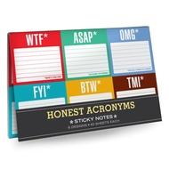 Knock Knock Acronyms: Notes autocollantes - 6 paquets (Anglais)