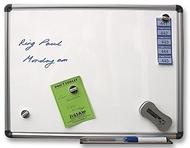 Tableau blanc magnétique 90 x 120cm. Comprend des marqueurs de tableau blanc, un effaceur de tableau blanc et des lingettes
