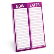 Knock Knock perforé Pad Now/Later. Bloc-Notes À présent. Plus tard