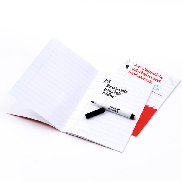 Cahier de tableaux blanc réutilisable Cahier Magique
