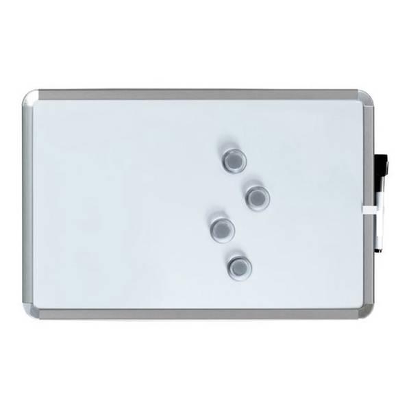 A3 Tableau blanc magnétique 28 x 43 cm. Argent. Comprend de marqueur de tableau blanc et des 4 aimants