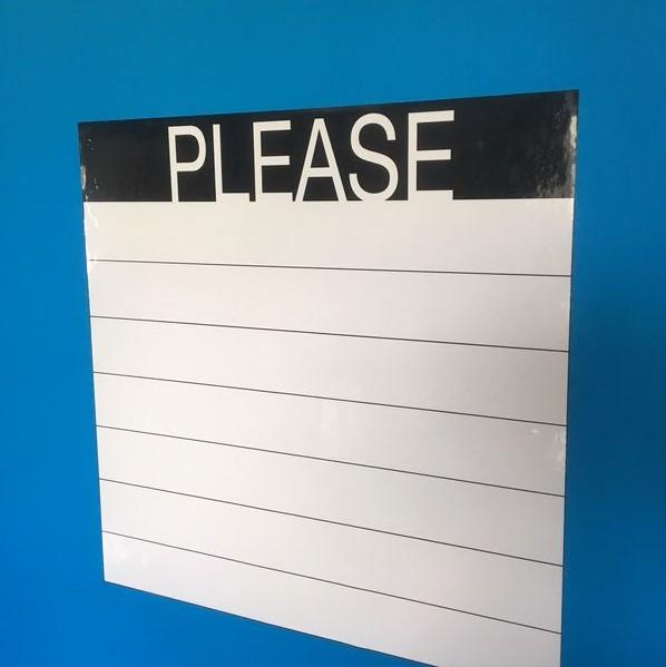 Adhésif PLEASE blanc - 50 x 50 cm
