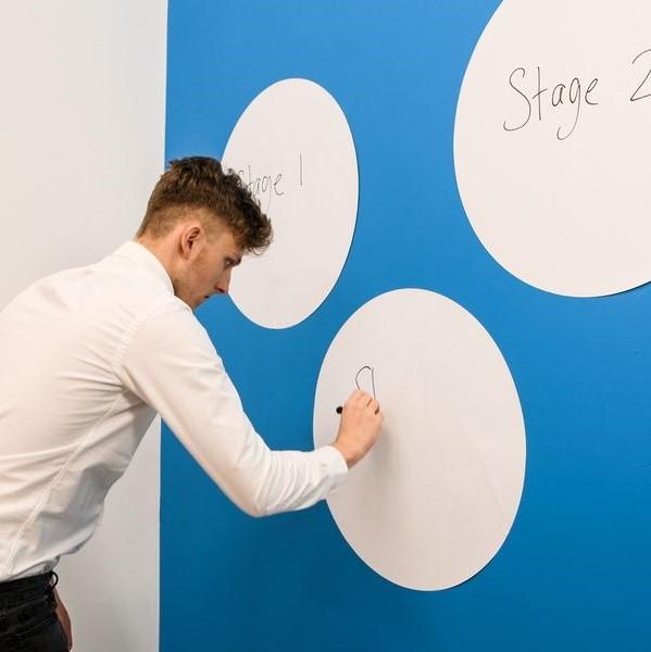 ✅ Tableau Blanc Circulaire | Cercle Tableau Blanc | Sticker Tableau Blanc Ronds | Tableau Blanc