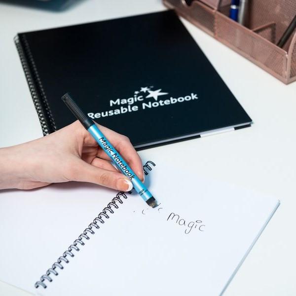 ♻️ Cahier  📓 | Cahier Magique | Cahier Tableaux Blanc réutilisable | Cahier effaçable | Cahier de notes réutilisable