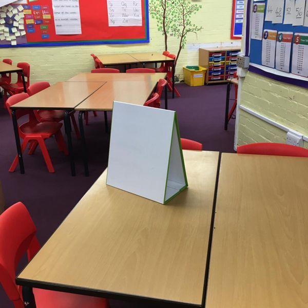 Pack de 20 - 🧲 Wedge Tableau blanc école – A3 –/effaçable à sec tableau blanc magnétique
